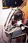 Close-up shows the regulator amp meter 12VDC hookups