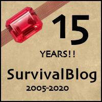 SurvivalBlog's 15th Anniversary
