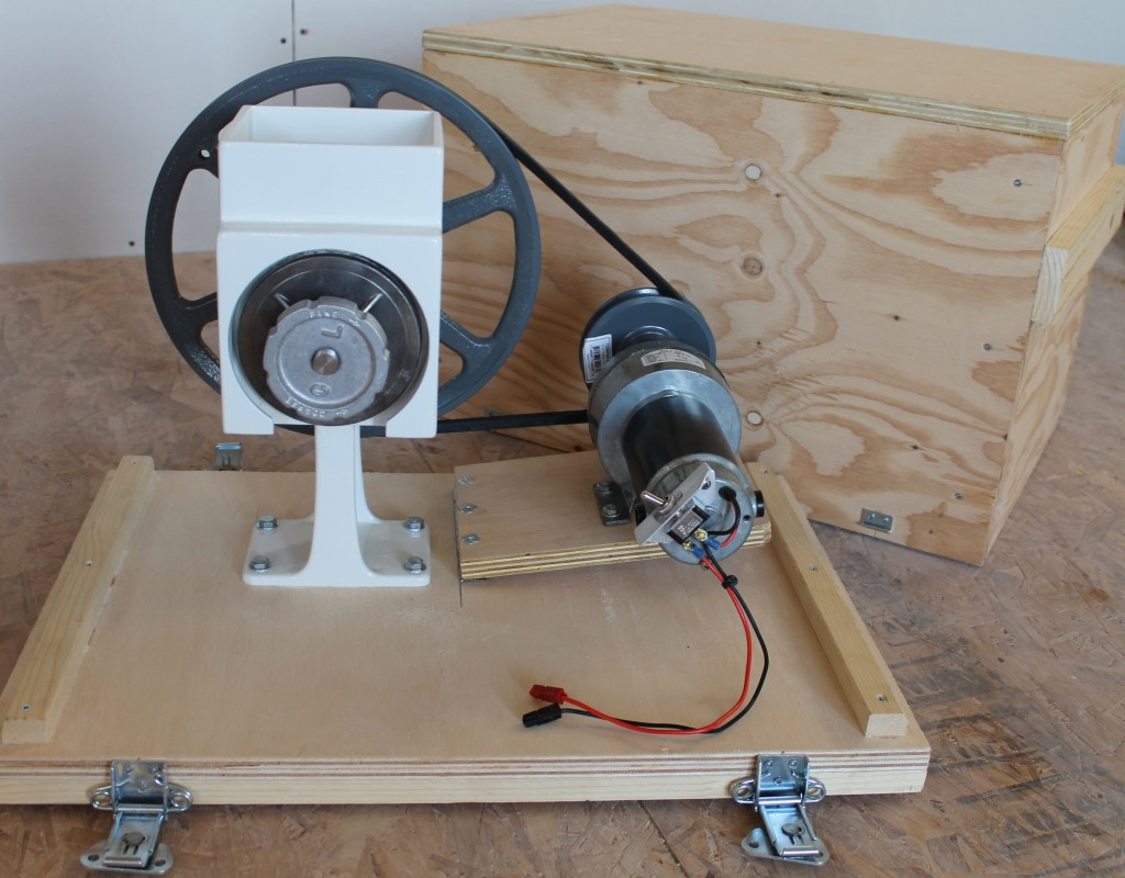 Motorizing a Country Living Grain Mill for 12volt Battery and Solar