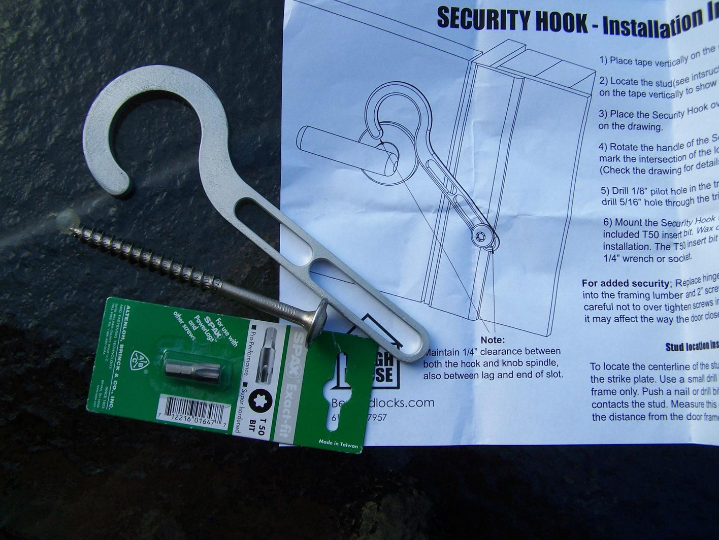 Security hook up clearance