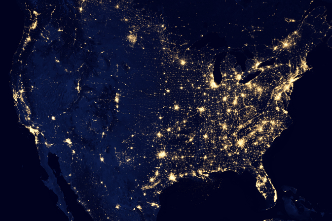 Lights of the US