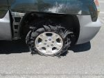blown tire