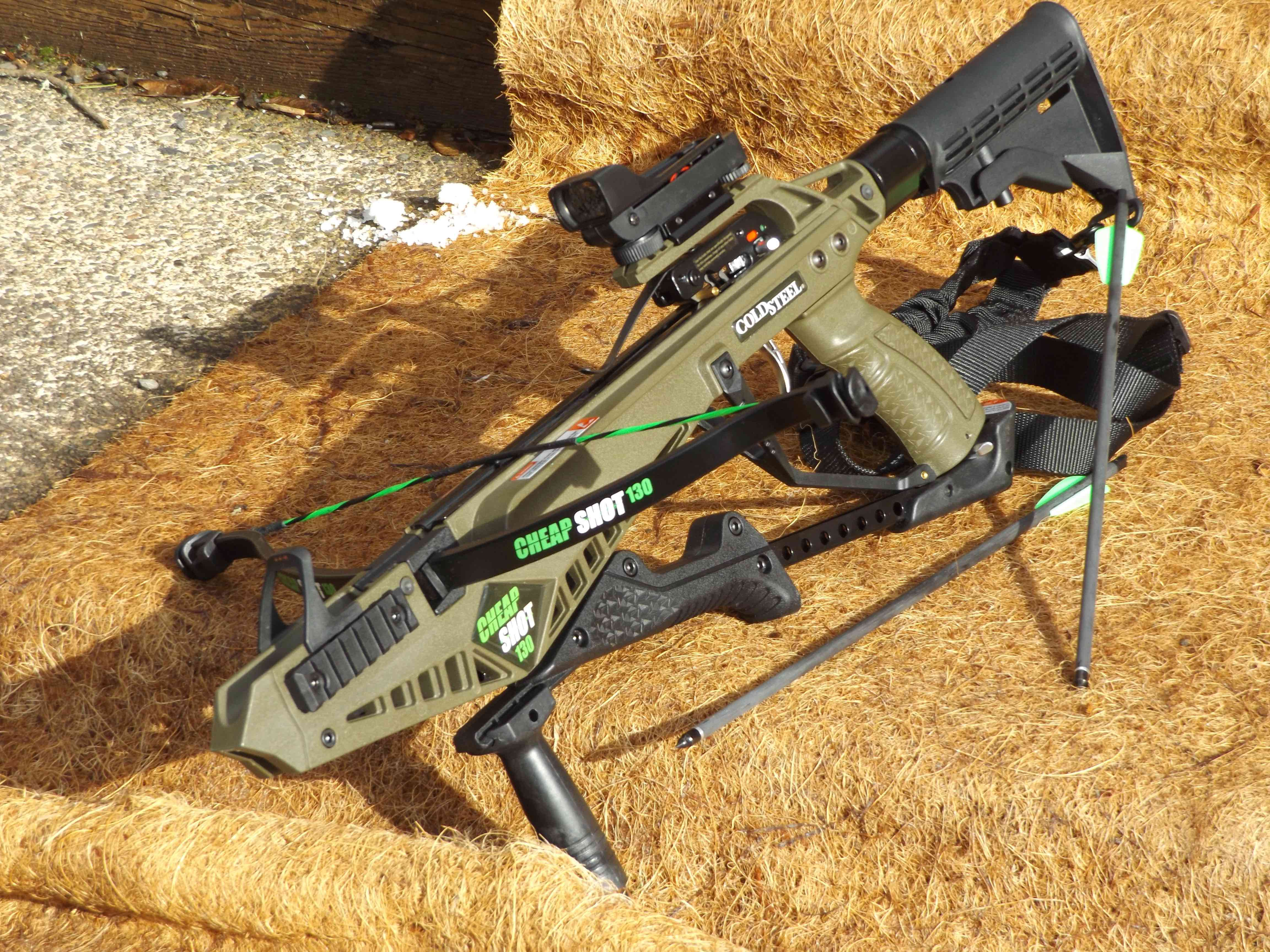 Cold Steel Cheap Shot 130 crossbow, has a draw weight of ...
