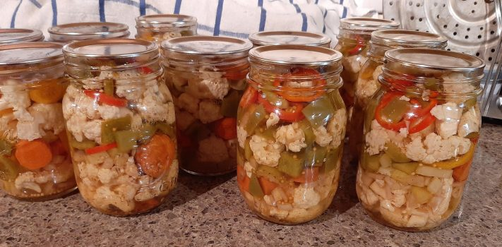 Recipe of the Week:  Giardiniera (Italian Pickled Vegetables)